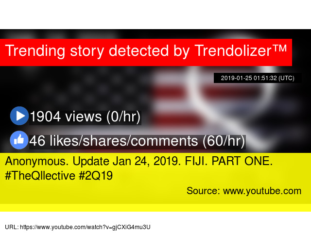 Anonymous  Update Jan 24, 2019  FIJI  PART ONE  #TheQllective #2Q19