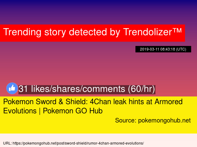 Pokemon Sword Amp Shield 4chan Leak Hints At Armored Evolutions