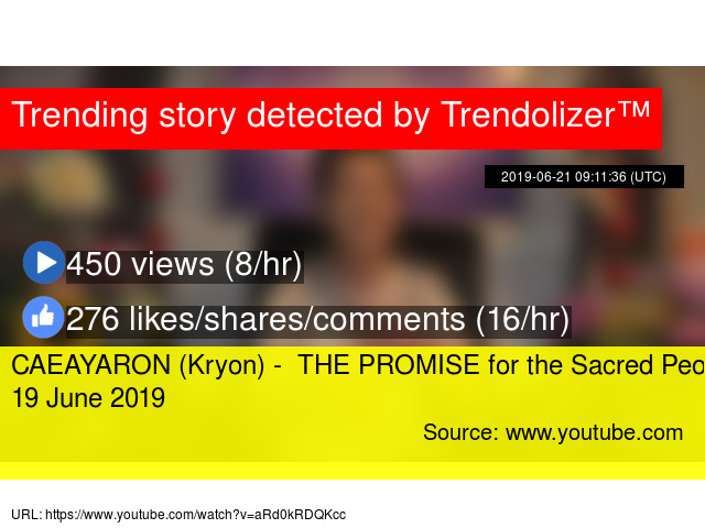 CAEAYARON (Kryon) - THE PROMISE for the Sacred People - 19 June 2019