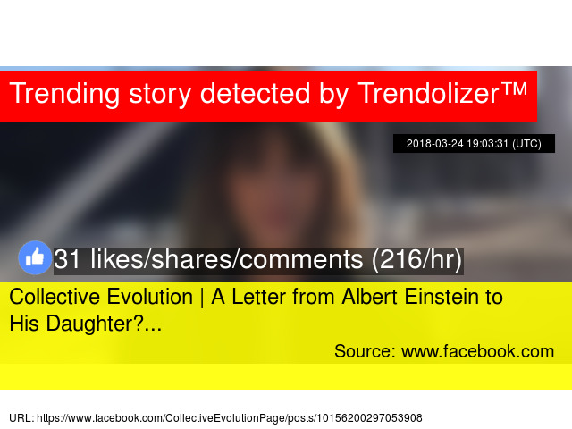 Collective Evolution A Letter From Albert Einstein To His Daughter