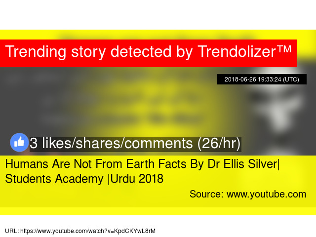 Humans Are Not From Earth Facts By Dr Ellis Silver| Students Academy