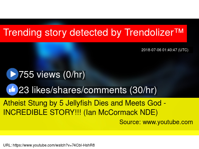 Atheist Stung by 5 Jellyfish Dies and Meets God - INCREDIBLE